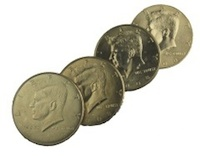 four in one coinset half dollar- coin tricks