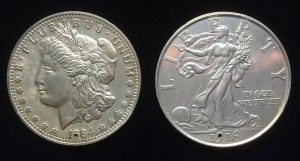 Morgan and Walking Liberty Jumbo Silver