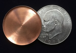 Expanded Eisenhower dollar shell Tango Magic