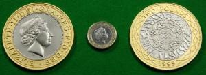 Jumbo 2 pound coin